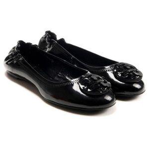 Black Patent Leather Tory Burch Flats